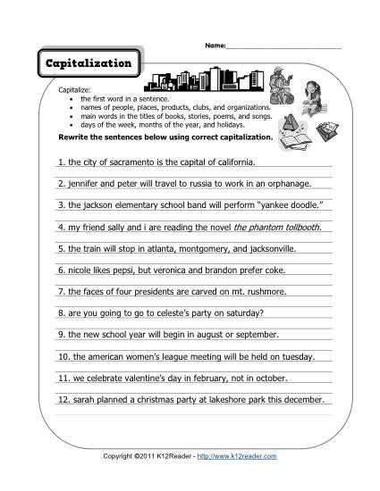 capitalization homeschool grade 4 punctuation
