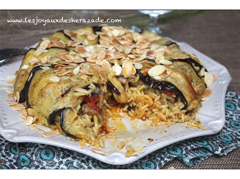 aubergine cuisine el maklouba aux aubergines المقلوبة بالباذنجان les joyaux de sherazade