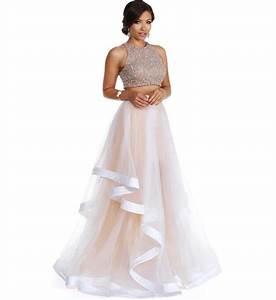 Miya- White Two Piece Prom Dress from Windsor Prom