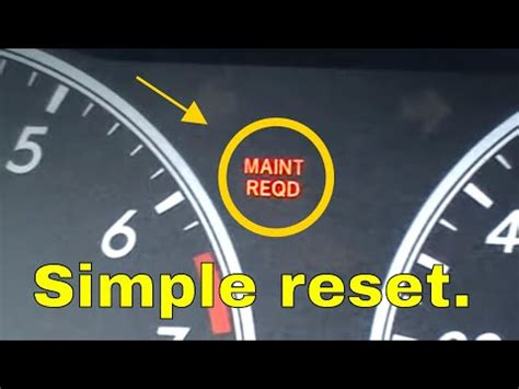 toyota corolla maint reqd light reset maintenance required