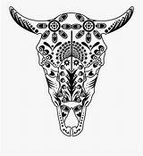 Skull Sugar Cow Drawing Coloring Animal Colouring Getdrawings Longhorn Flowers Bull Cartoon Transparent Roses Netclipart Silhouettes Views Kindpng Vippng sketch template