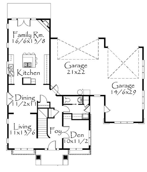 Craftsman Style House Plan 4 Beds 2 5 Baths 2412 Sq/Ft