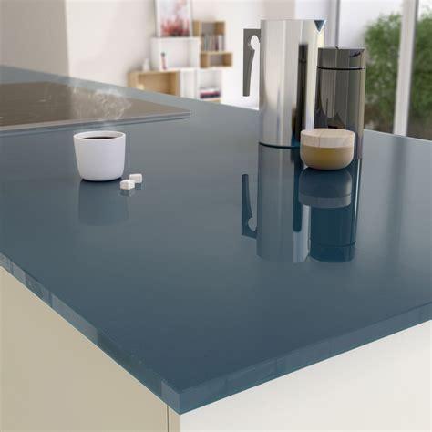 plan de travail cuisine en verre plan de travail sur mesure verre laqué gris de plomb ep