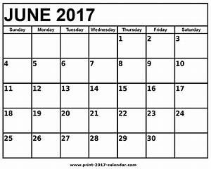 June 2017 Printable Calendar