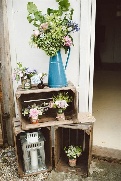Decorating Ideas With Crates by Wooden Crates Wedding Decoration Ideas Within