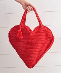 Heart Tote Bag Free Crochet Pattern  U22c6 Crochet Kingdom