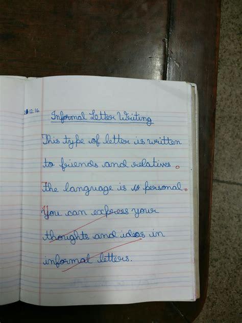 englishmania class   informal letter writing format