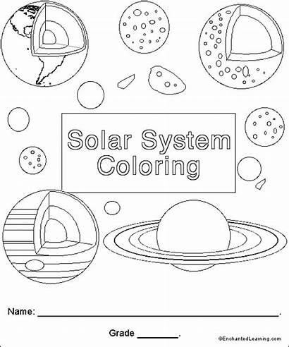 Coloring Solar System Activities Planets Grade 2nd