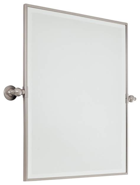 Bathroom Tilt Mirror by Rectangular Tilt Bathroom Mirror Large 3 Finishes