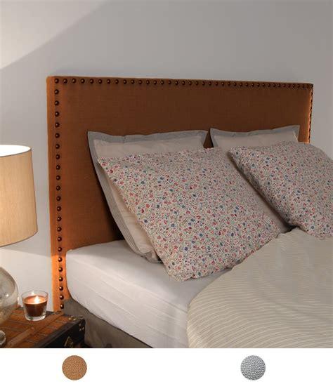 t 234 te de lit en simili cuir couleur cuivre ou argent clout 233 e personnalisable