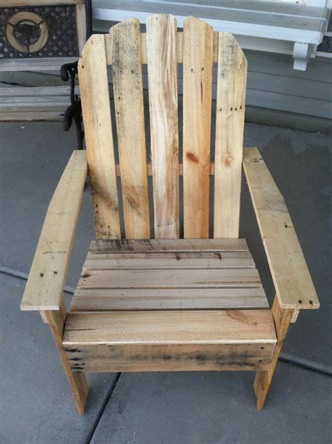 how to build an adirondack chair out of a pallet