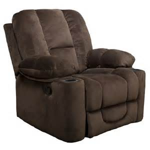 Chocolate Brown Recliner Chair by Gannon Fabric Glider Recliner Club Chair Chocolate Brown
