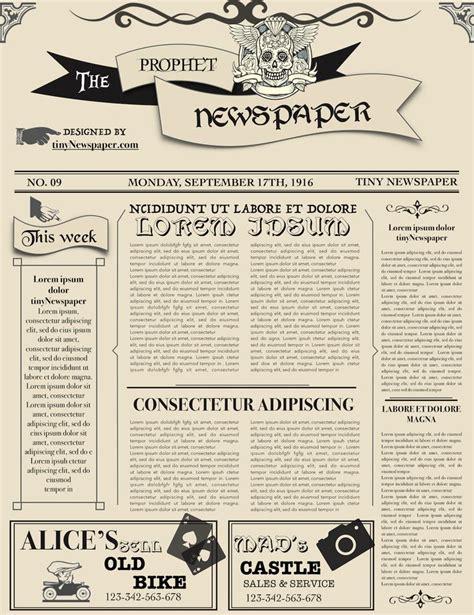 editable newspaper template  images newspaper