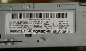 Porsche    Becker Cdr-220 Oem Cd Player