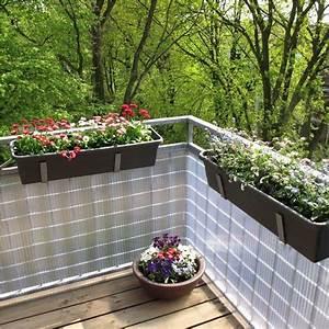 Balkon Sichtschutz Kunststoff Meterware : sichtschutzmatte kunststoff montageset sunline transparent ~ Bigdaddyawards.com Haus und Dekorationen