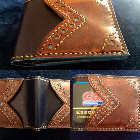 60 equal monthly payments required. Buy Hand Made Mens Credit Card Wallet With Brogue Styling, made to order from Saxon Leather art ...
