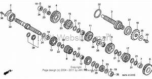 1999 Honda Cbr1100xx A Motorcycle Transmission Exploded Parts Diagram