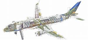 Embraer 170 Cutaway Drawing In High Quality