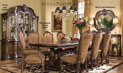 American Freight Dining Room Sets 7 pc english formal dining room furniture table set ebay