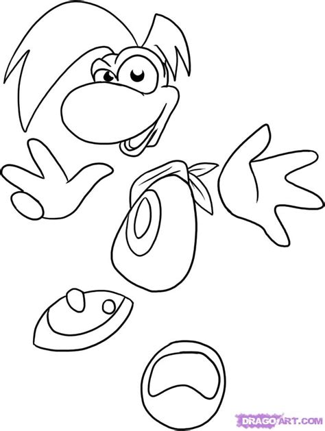 draw rayman step  step video game characters