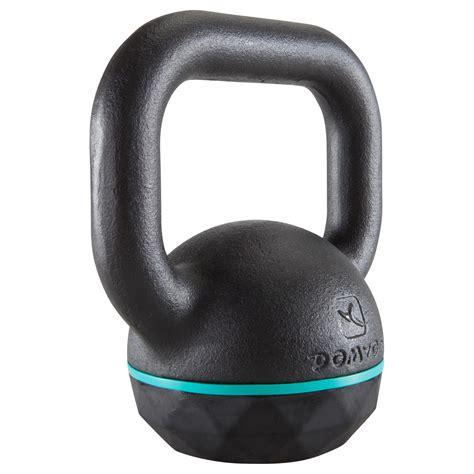 kettlebell decathlon kg domyos gym training cross fitness lbs rubber base kettlebells rotate previous