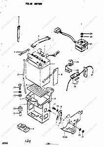 Suzuki Motorcycle 1973 Oem Parts Diagram For Battery