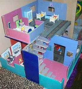 Maisons En Carton Maisons De Poupes And Playmobil On