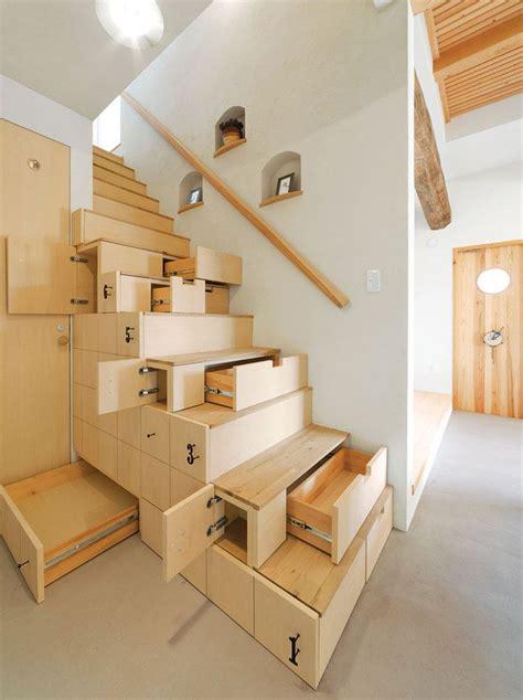 space saving stair stair en 2019 escalier design rangement sous escalier et etagere escalier