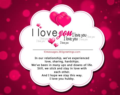 I Love You My Husband Messages