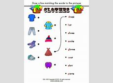 Clothes Activities, Games, and Worksheets for kids