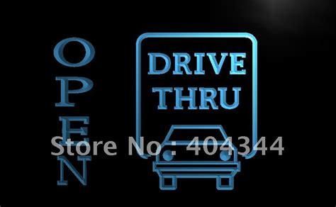 lb145 open drive thru displays motel led neon light sign