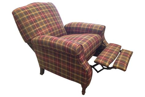 Plaid Recliner dory plaid accent recliner at gardner white
