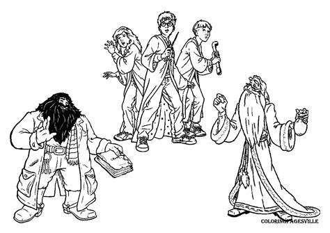 Harry Potter Ginny Coloring Page