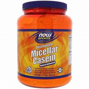 Now Foods  Sports  Micellar Casein  Instantized  Natural Unflavored  1 8 Lbs  816 G