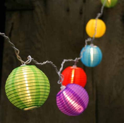multicolored lantern bulb and white cord string
