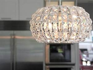 crystal, pendant, lights, above, contemporary, kitchen, island