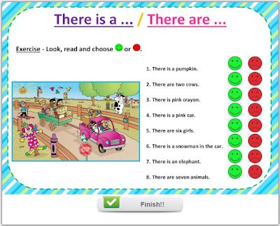 Fun English Kids  Infant And Primary Liveworksheets  There Is   There Are