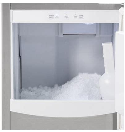 uncnjii ge monogram  built  clear nugget ice maker custom panel