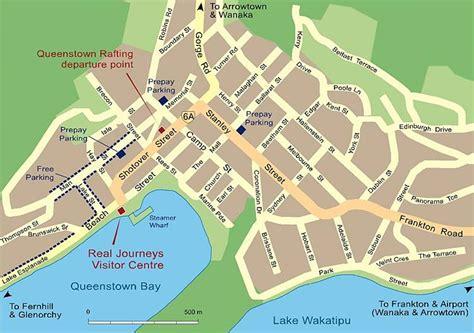 map  queenstown travelquazcom