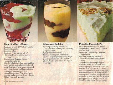 jello beautiful desserts page  vintage recipe booklet