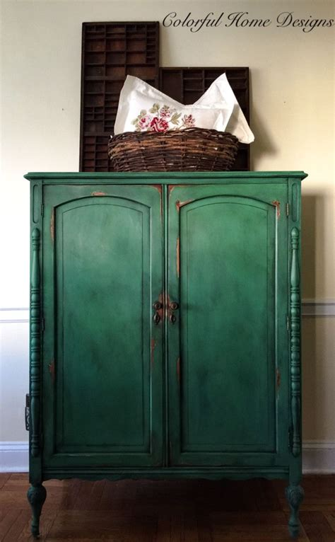 Painted Armoire Furniture Sold Vintage Painted Armoire Sloan Chalk Paint