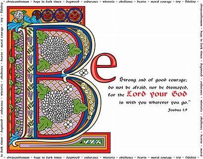 Bible Joshua Clipart Illuminated Verses Verse Text