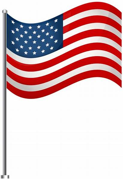 Flag Transparent Clip Clipart Usa Waving American