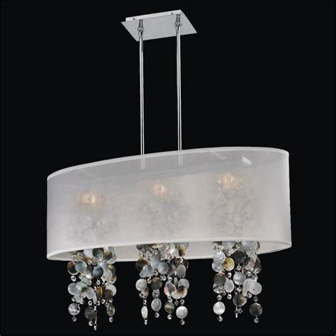 oval shade chandelier with of pearl soho 626p