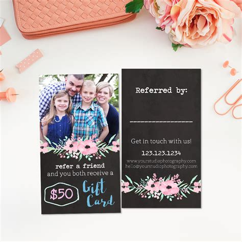 referral card template smiles