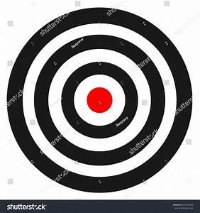 Blank Template Sport Target Vector Shooting Stock Vector