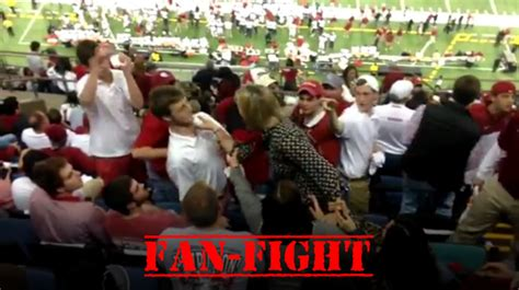 Video: Alabama fan goes crazy on Oklahoma fan during the ...