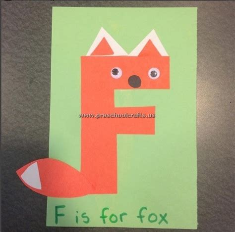 letter f crafts fox craft ideas for letter f preschool crafts 49218