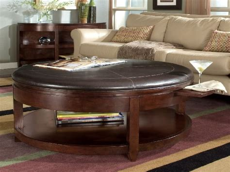 A large, rectangular ottoman is more traditional and prominent than a square one with softer, rounded edges, and completely circular models create a contemporary seamlessness that blends the. 40+ Brown Leather Ottoman Coffee Tables With Storages | Coffee Table Ideas