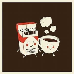 cartoon, cigarette, cigarettes, coffee, illustration ...